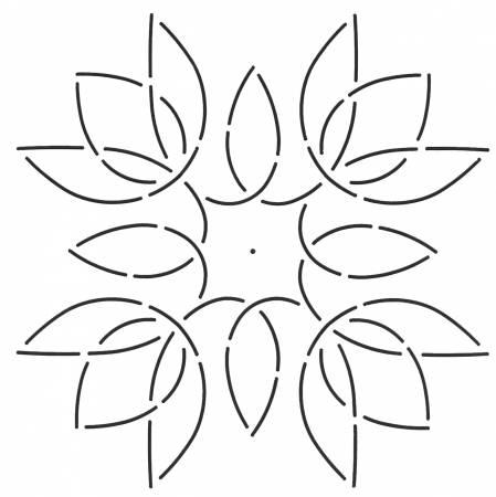 Quilt Stencil Tulip Medallion