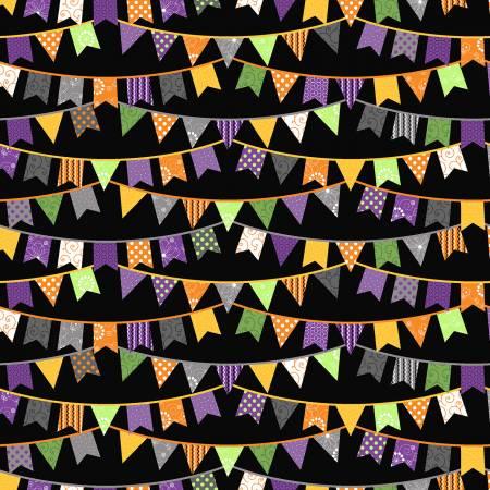 Black Halloween Flags