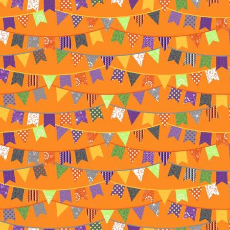 Orange Halloween Flags