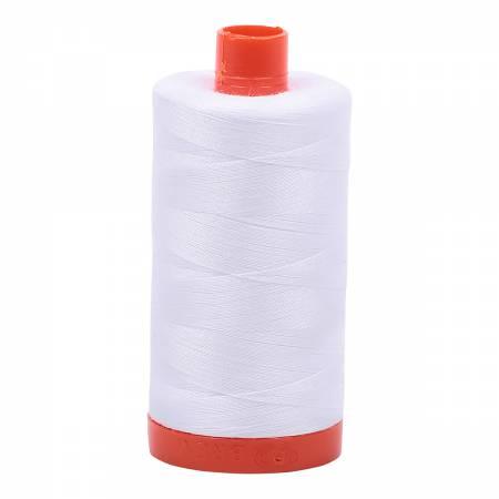 Mako Cotton Thread Solid 50wt 1422yds White
