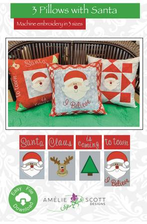 3 Pillows with Santa