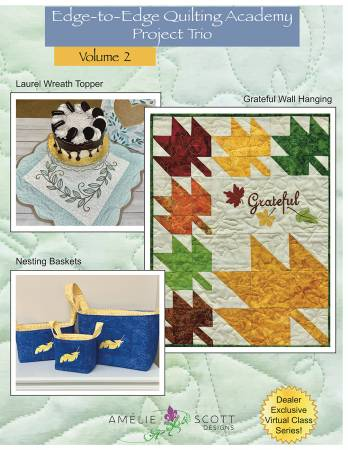 Edge-to-Edge Quilting Academy Project Trio Volume 2