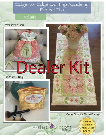 Edge-to-Edge Quilting Academy Project Trio Volume 1 - Dealer Kit
