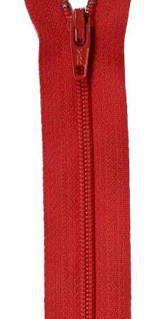 22in Zipper 6 per pack Red River