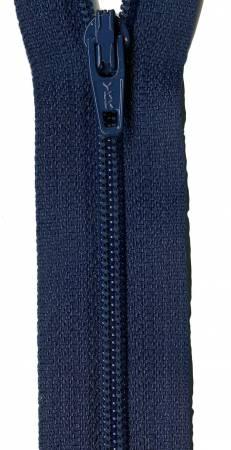 22in Zipper 6 per pack Navy Blue