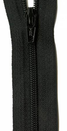 22in Zipper 6 per pack Basic Black