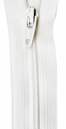 22in Zipper 6 per pack Marshmallow