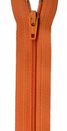 22in Zipper 6 per pack Orange Peel