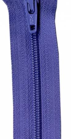 22in Zipper 6 per pack Periwinkle
