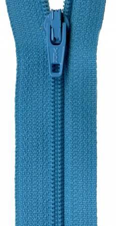 22in Zipper 6 per pack Turquoise Splash