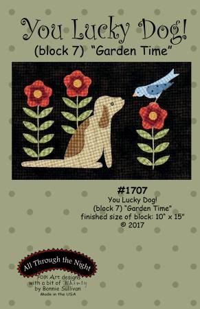 You Lucky Dog 7 Garden Time Block of the Month