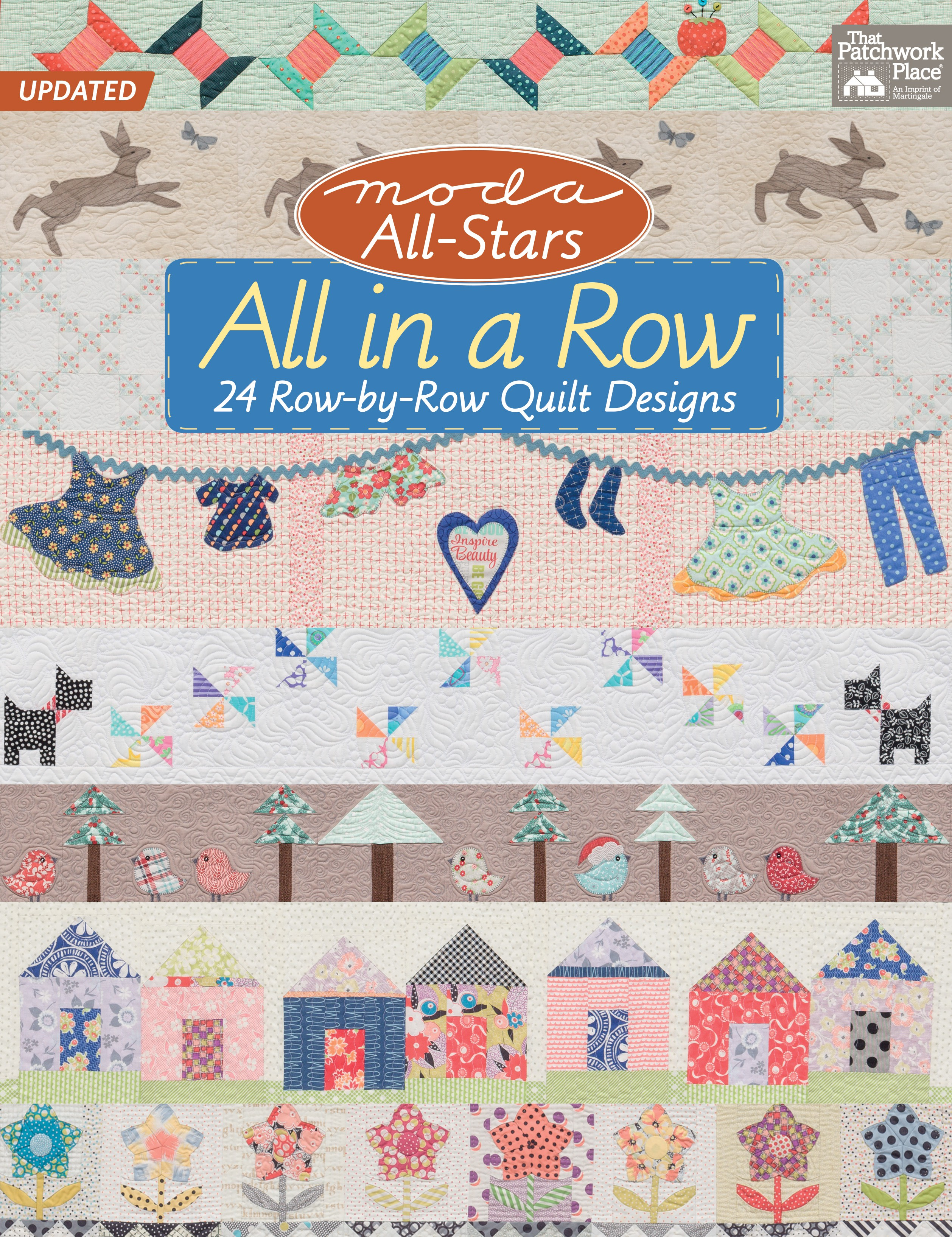 Moda All Stars All In A Row 24 Row By Row Quilt Designs