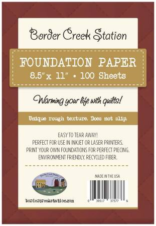 Foundation Paper 8-1/2in x 11in