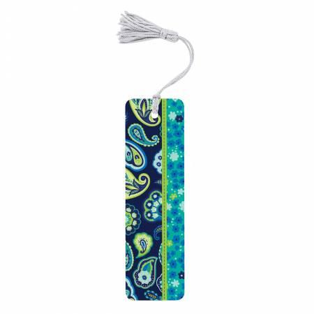 Bookmark Blue Green Paisley
