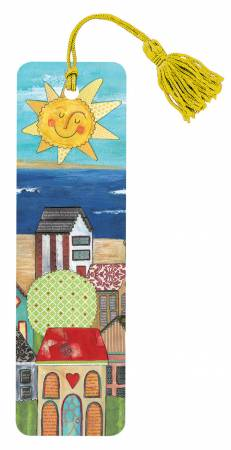 Sun Over Lake and House Bookmark