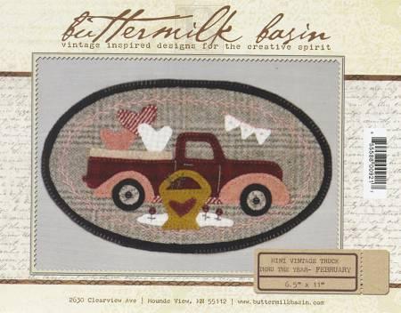 Mini Vintage Truck Thru The Year - February 6-1/2in x 11in