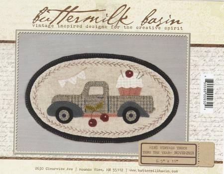 Mini Vintage Truck Thru The Year - November 6-1/2in x 11in