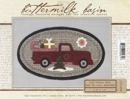 Mini Vintage Truck Thru The Year - December 6-1/2in x 11in