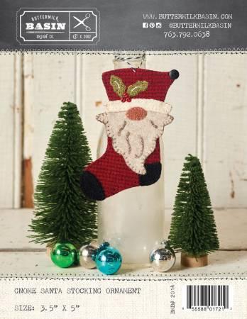 Gnome Santa Stocking Ornament
