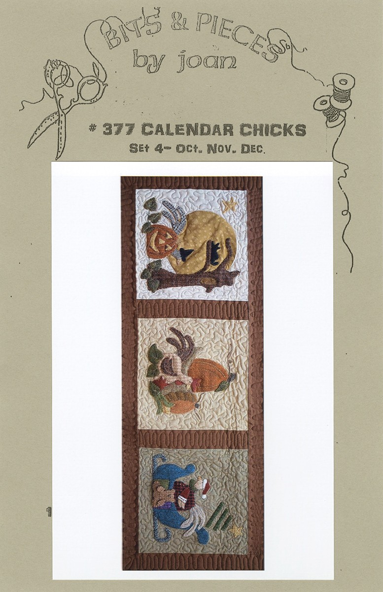 Calendar Chicks Block Of The Month 4 By Grenke Joan