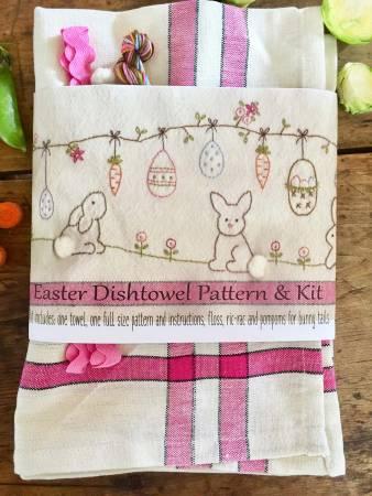 Easter Dishtowel Pattern and Floss Kit