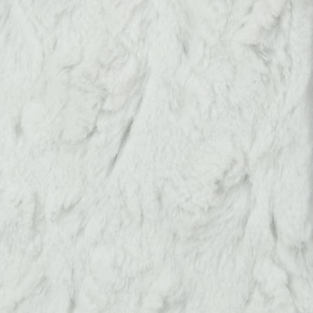 White Beary Soft Minky Solid