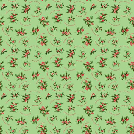 Christmas Holly Green