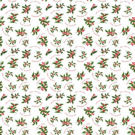 Christmas Holly White