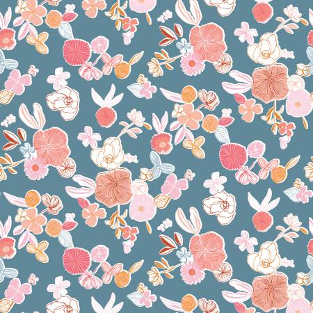 Heartsong Floral Blue