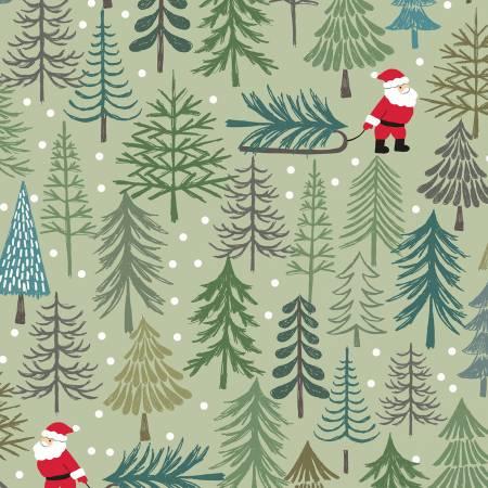 Pale Green Santa's Tree