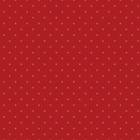Bee Cross Stitch In Color Barnred