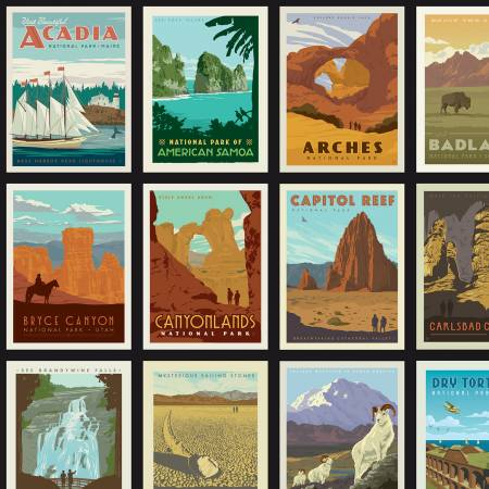 National Parks Posters Black