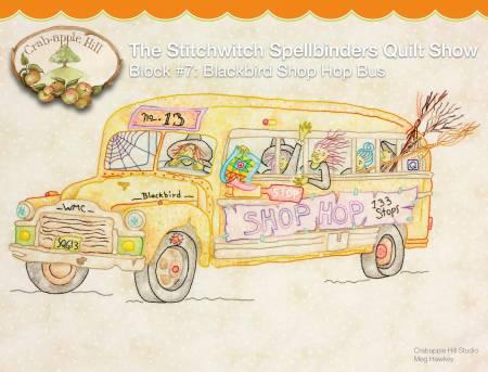 Stitchwitch Spellbinders Quilt Show 7 Blackbird Shop Hop Bus