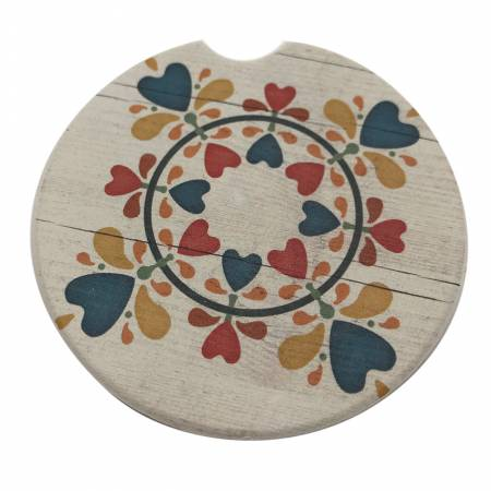 Folk Heart Car Coaster