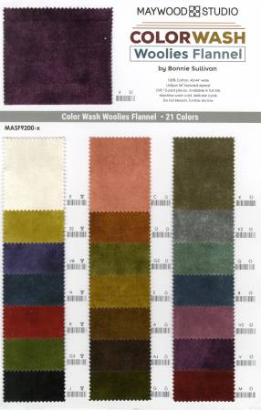 Color Wash Woolies Flannel Color Card
