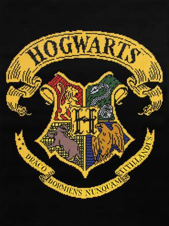 Hogwarts Crest Diamond Painting Kit 20.4in x 27.5in