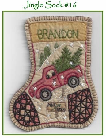Jingle Sock Santas Truck