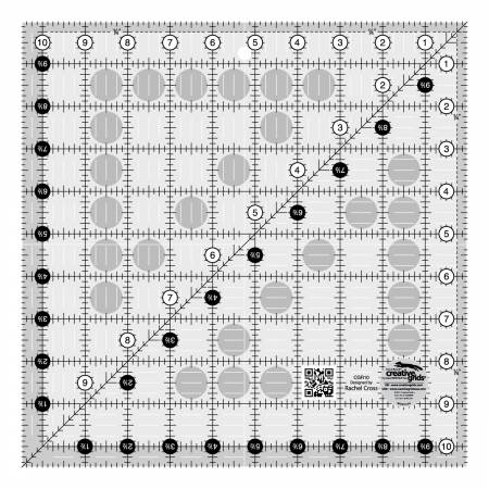 Creative Grids Quilt Ruler 10-1/2