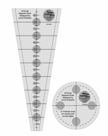 Creative Grids 18 Degree Dresden Plate Quilt Ruler