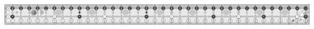 Creative Grids Yardstick Quilt Ruler 2-1/2in x 36-1/2in