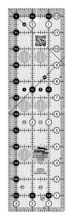 Creative Grids Quilt Ruler 3-1/2in x 12-1/2in