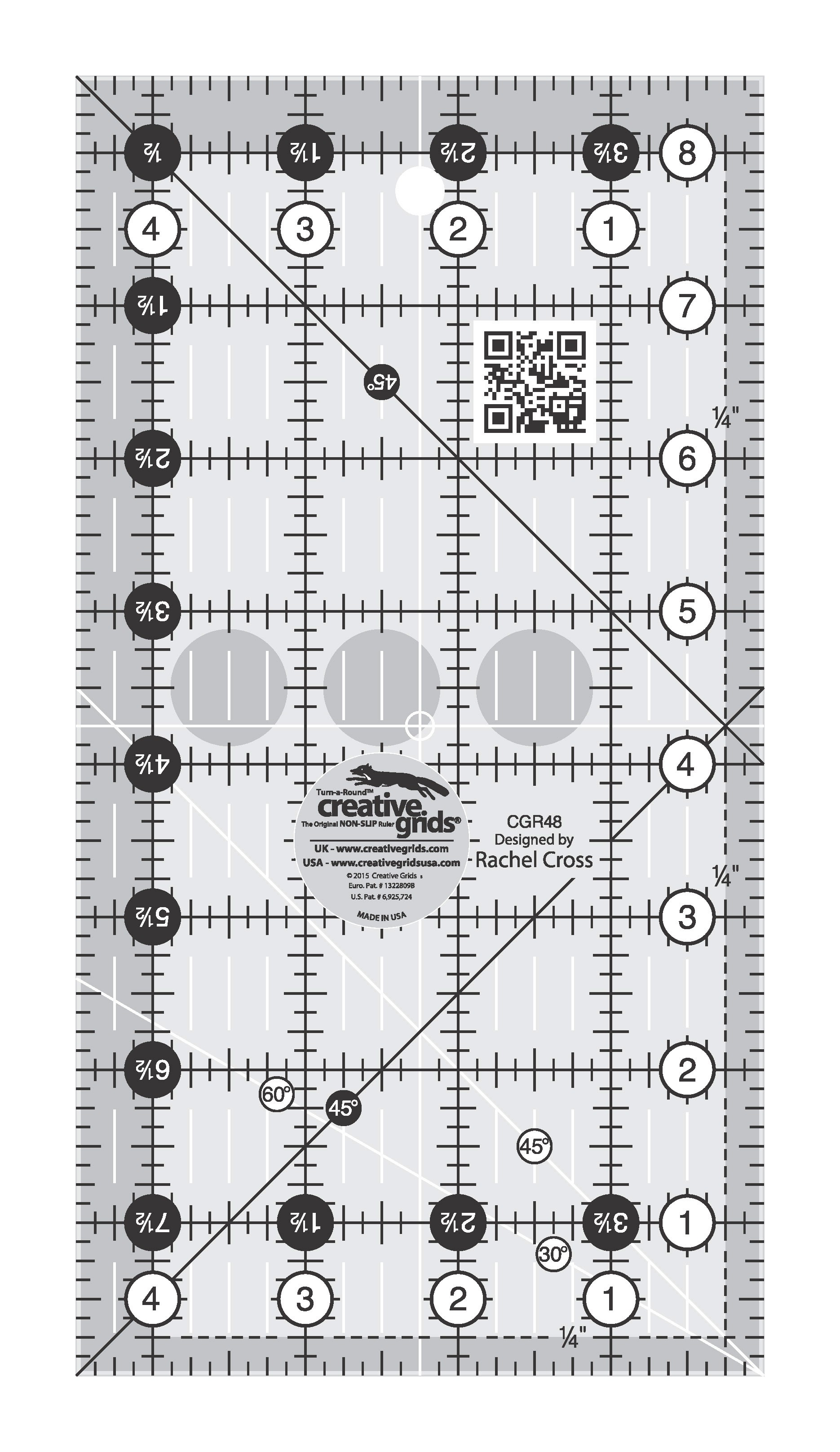 Creative Grids Quilting Ruler 4 1//2 Inch X 18 1//2 Inch CGR418 by Creative Grids
