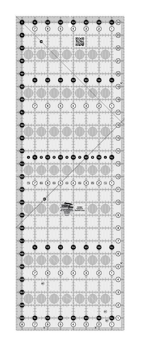 Creative Grids Quilt Ruler 8 1 2in X 24 1 2in By Cross Rachel