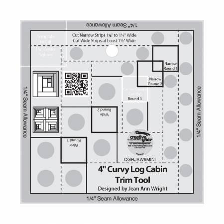 Creative Grids 4in Curvy Log Cabin Trim Tool