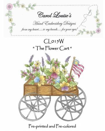 Flower Cart - White