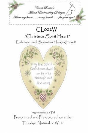 Christmas Spirit Heart - White