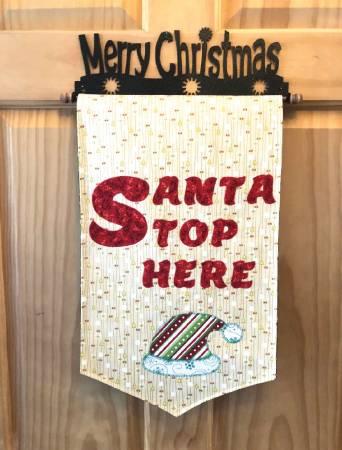 Santa Stop Here Door Hanger