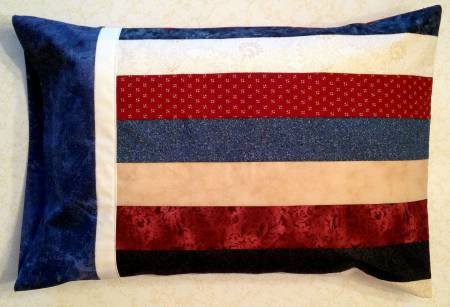 Travel Size Strippy Pillowcase
