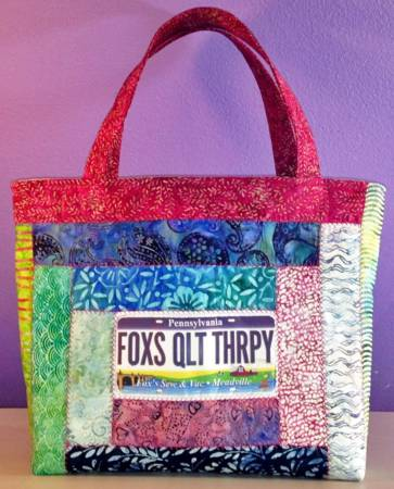 Fabric License Plate Tote