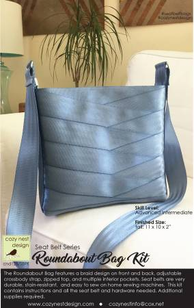 Roundabout Seat Belt Bag Kit in Steel Blue